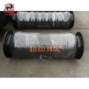 discharge rubber hose with fixed steel flange
