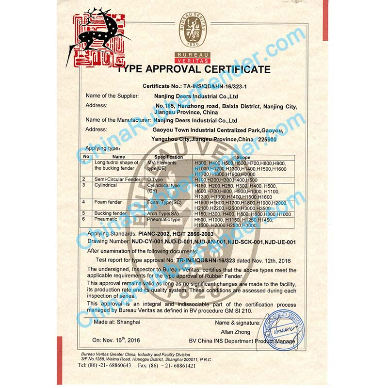 PIANC Type Approval Certificates